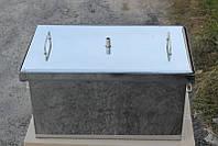 Коптильня большая с гидрозатвором из нержавеющей стали (520x300x280)