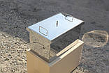 Коптильня велика з гідрозатворів з нержавіючої сталі (520x300x280), фото 2