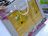 Набор полотенец в подарочной упаковке цвета в ассортименте