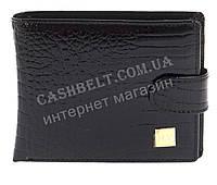 Небольшой шикарный женский кожаный тесненный кошелек высокого качества  H.VERDE art. 2173-67 черный лак, фото 1