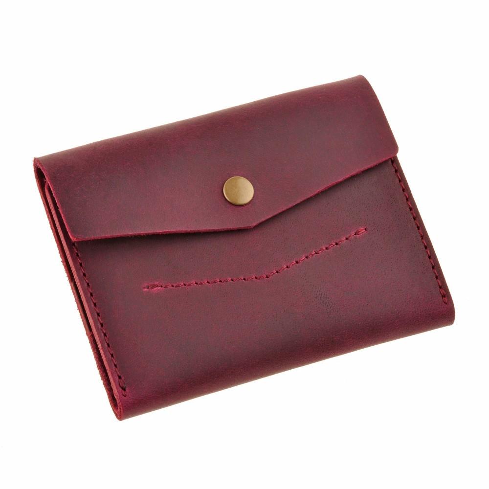 15d1f1f6889e Женский кожаный кошелек марсала 2.0 Blanknote Виноград - FOXBAG кожаные  сумки и аксессуары украинских брендов в