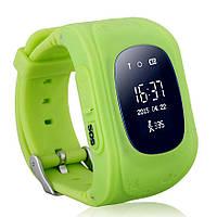 Детские смарт-часы телефон Q50 с GPS трекером зеленые