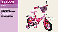 """Детский велосипед 2-х колесный 12 """" 171220 со звонком, зеркалом."""
