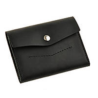 Женский кожаный кошелек черный 2.0 Графит