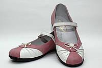 Школьная обувь для девочекТуфли нарядные для девочки 1081/27/белый с ро в наличии 27 р., также есть: 27,31,34,36, Palaris_Родинний - 3