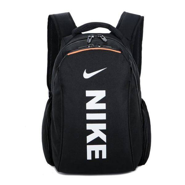 Городской рюкзак Nike черный с белым логотипом и надписью (реплика)