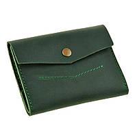 Женский кожаный кошелек зеленый 2.0 изумруд