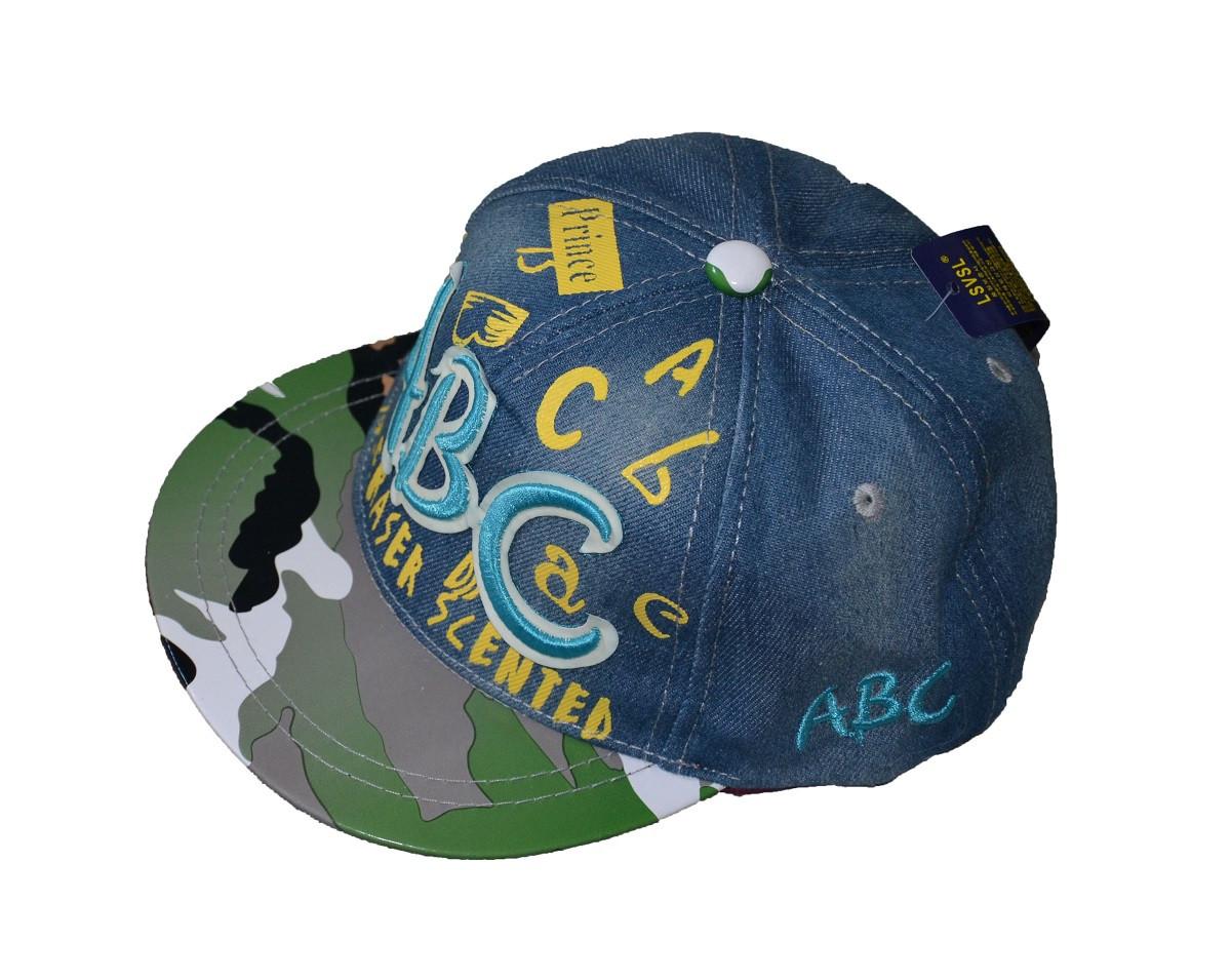 Джинсовая кепка АВС