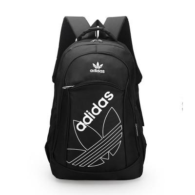 Городской рюкзак Adidas черный с белым логотипом (реплика)