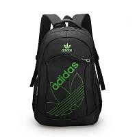 Городской рюкзак Adidas черный с зеленым логотипом
