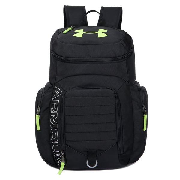 Рюкзак Armour черный с салатовым логотипом (реплика)