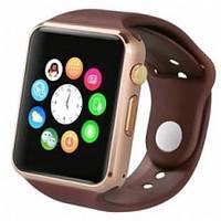 Умные часы Smart watch A1 gold+brown золотистый корпус + коричневый браслет