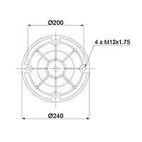 Пневмоподушка Granning RML75265CP6 (BLACKTECH)
