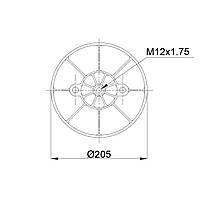 Пневмоподушка Fruehauf Granning RML75268CP10 (BLACKTECH)