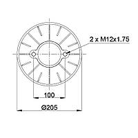 Пневмоподушка Granning Meritor RML75268CP4 (BLACKTECH)
