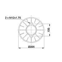 Пневмоподушка Granning Meritor RML75268CP9 (BLACKTECH)