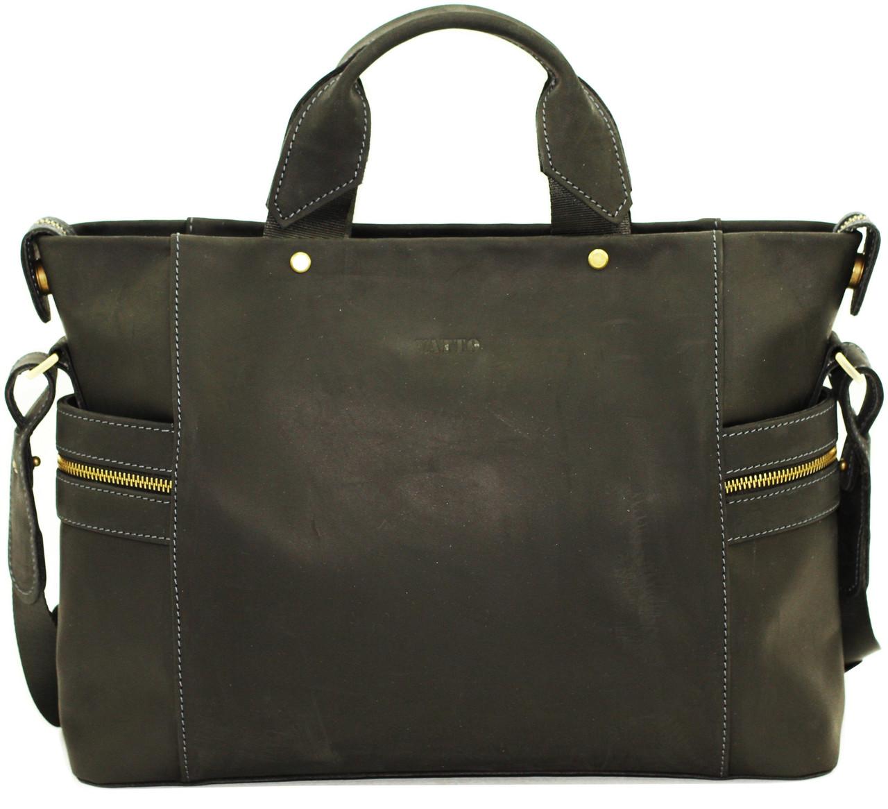 Кожаная мужская сумка Vatto черная