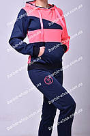 Красивый женский спортивный костюм с кофтой кенгуру 781
