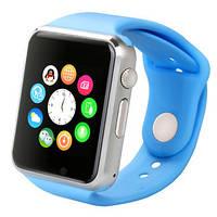 Умные часы Smart watch A1 silver+blue серебряный корпус + голубой браслет