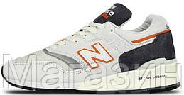 Мужские кроссовки New Balance 997 (Нью Баланс 997) в стиле серые