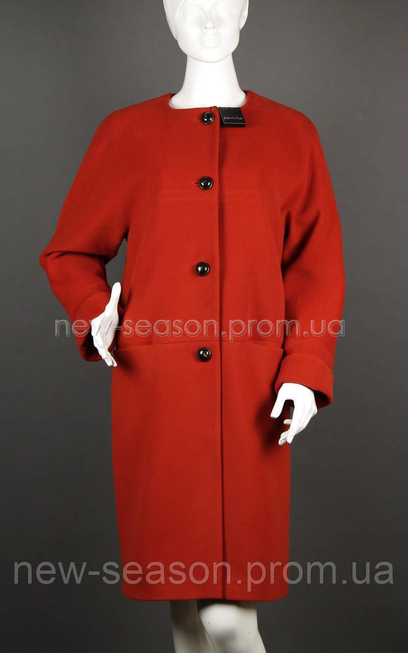 Пальто шерстяное Nina Vladi 343 терракота