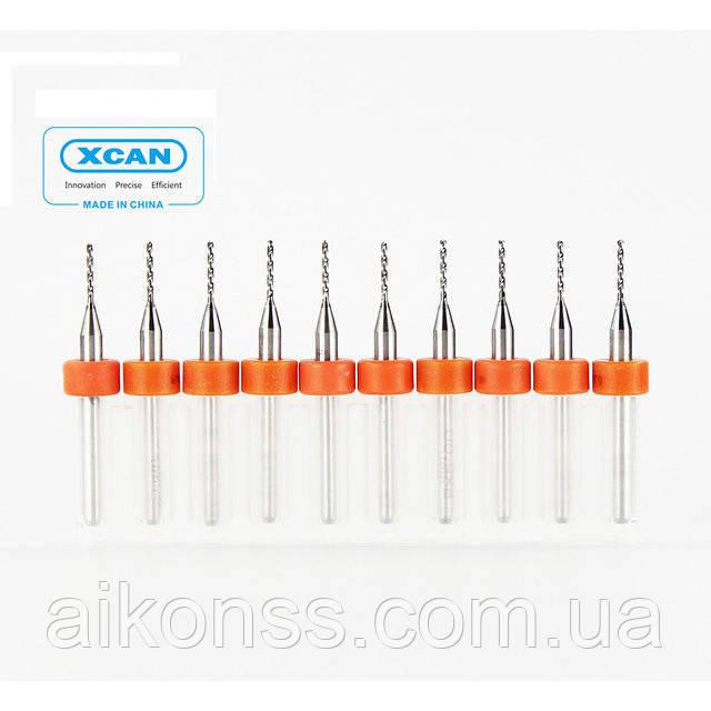 10шт 0,8мм Сверла твердосплавные для печатных плат CNC