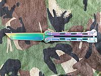 Нож бабочка Хамелеон Танто, подарок для парня, удобный и практичный