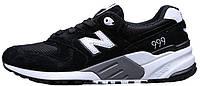 Мужские кроссовки New Balance 999 Black (Нью Баланс) черные