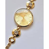 Часы Cussi 156-16 диаметр корпуса 4см, стразики, браслет под золото