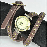Часы 3950-2 коричневые с намоткой, длина 60см