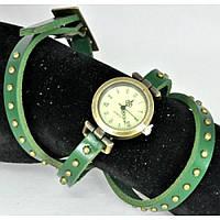Часы 3950-5 зеленые с намоткой, длина 60см