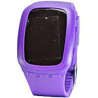 Часы Cussi 59-1 сиреневые, электронные с подсветкой, ремешок силиконовый