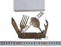 Нож складной ложка-вилка металлический Оптом Т408