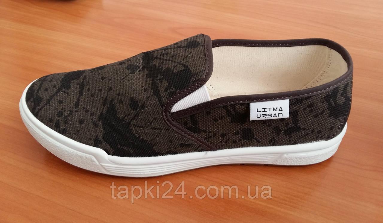 Мокасины мужские оптом Litma Ricardo коричневые - Обувь оптом от производителя tapki24 в Хмельницком