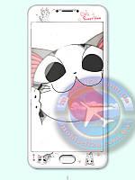 Защитное стекло 3D meizu m3 note кошки коты