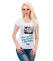Футболка женская Машинка белая, фото 1