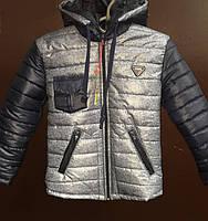 Демисезонная куртка для мальчика серого цвета 41336