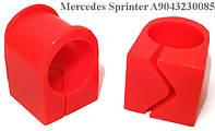 Полиуретановые втулки переднего стабилизатора Mercedes Sprinter A9043230085, 05104577AA (25 мм)