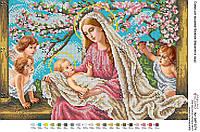 Схема для вышивки бисером Мадонна в саду БКР 3274