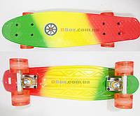 """Скейт Пенни борд Penny board Rainbow - FLASH 22"""" светящиеся колеса Explore оригинал"""