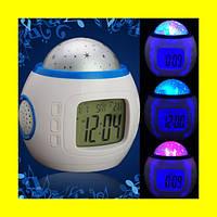 Часы Орбита 1038 настольные (проекция звез.небо, темпер, дата, будильник)!!