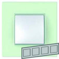Рамка 4-местная, Unica Quadro (стекло)