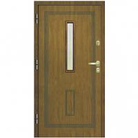 Бронированные Входная бронированная дверь для квартиры и домов эконом класса Gerda Q+ Domino bolonia со стеклом