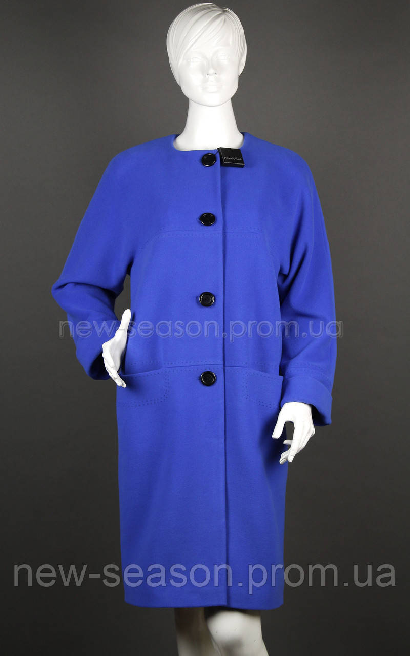 Пальто шерстяное Nina Vladi 343 василек
