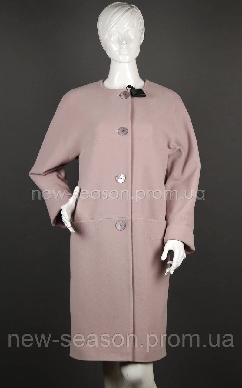 Пальто шерстяное Nina Vladi 343 жемчуг
