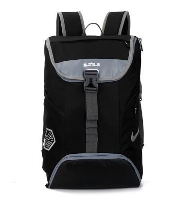 Спортивный рюкзак Nike черный с серыми вставками (реплика)