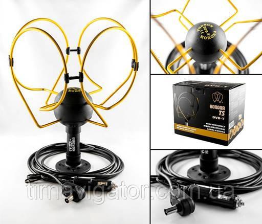 Антенна телевизионная DVB-T/T2 TIR Korona Extra TS (чорная коробка)