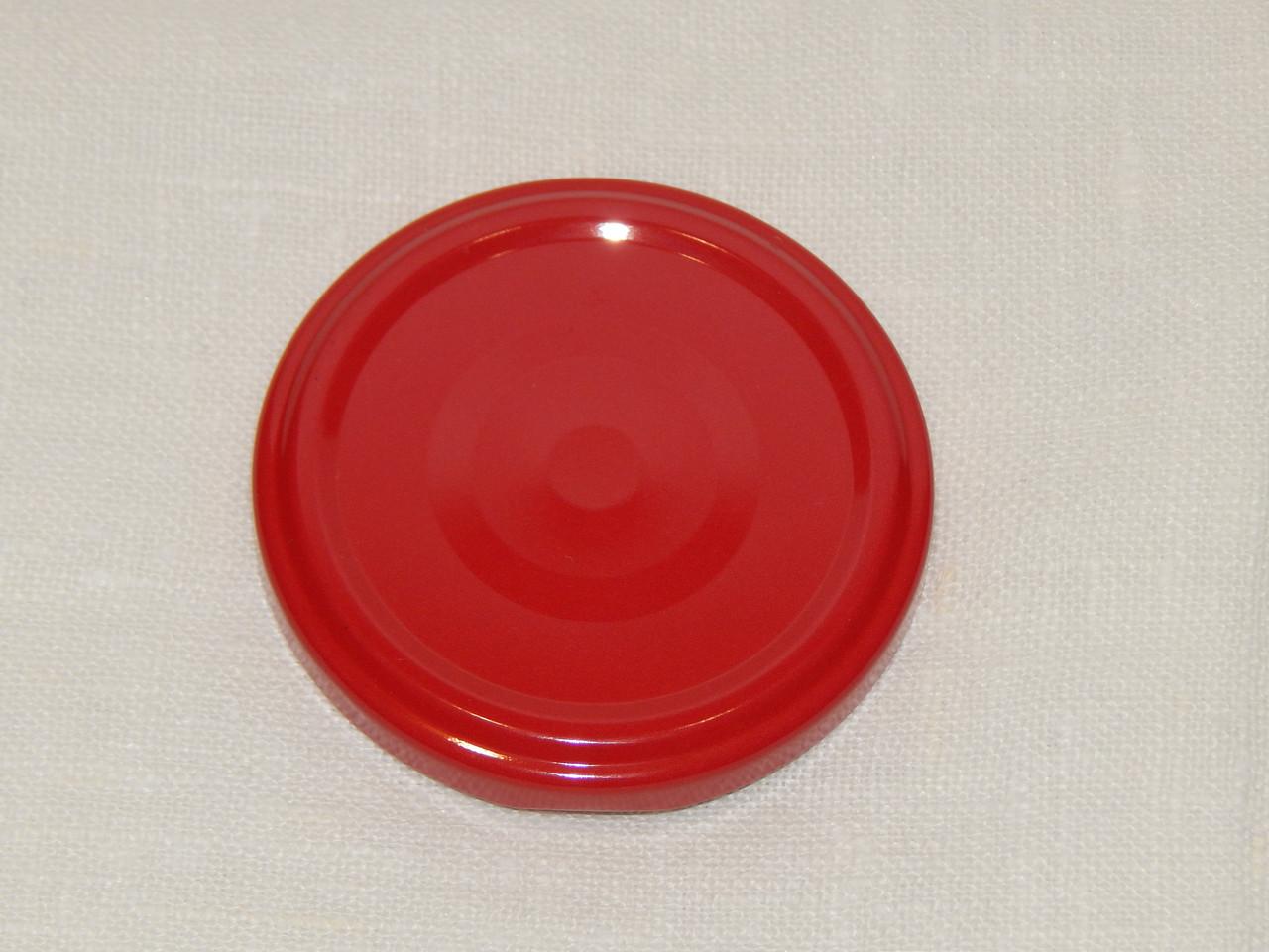 Крышка закаточная твист-офф размер 63 мм красная