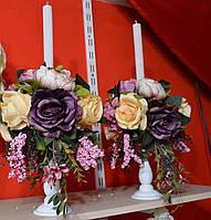Свечи Свадебные венчальные на подставке