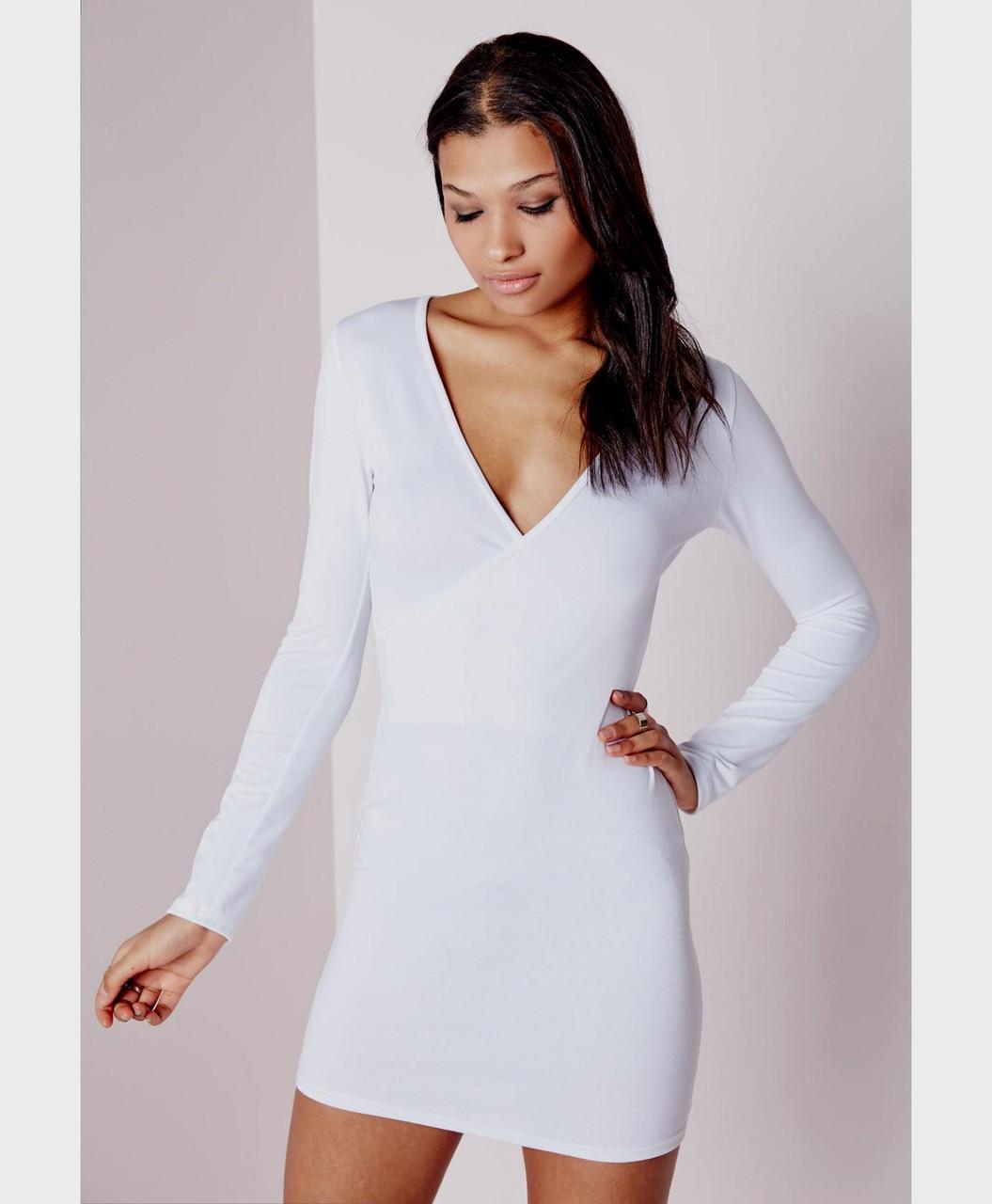 Новое белое платье облегающее платье Missguided